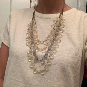 Anthropologie beaded three tier necklace
